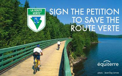 Save OUR Route verte image